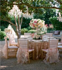 Be Sure It Complements The Theme Of Your Reception This Petal Pink Ruffled Option Is A Perfect Match To Romantic And Garden Inspired Look